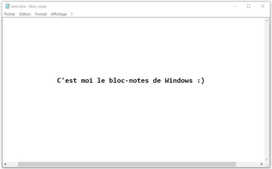 Notepad Windows