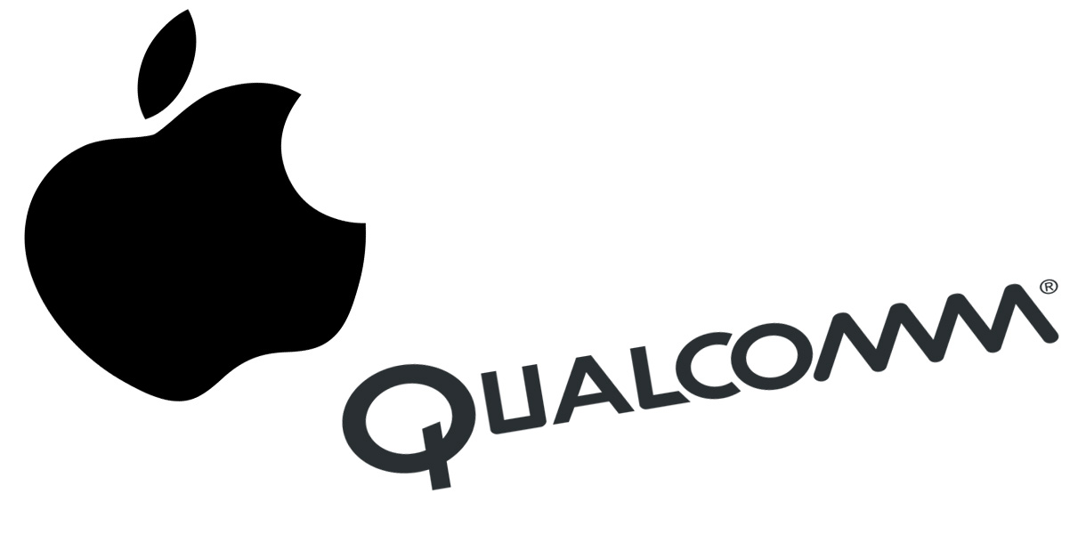 Logo Apple et Qualcomm