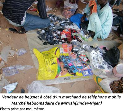 Téléphone mobile_Marché hebdomadaire de Mirriah