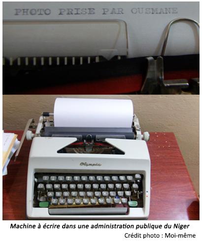 Machine à écrire fracture numérique