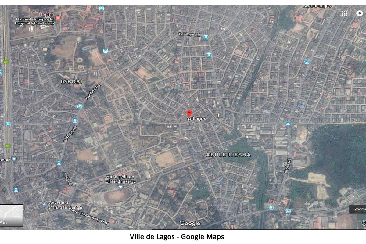 Ville Lagos sur Google Maps