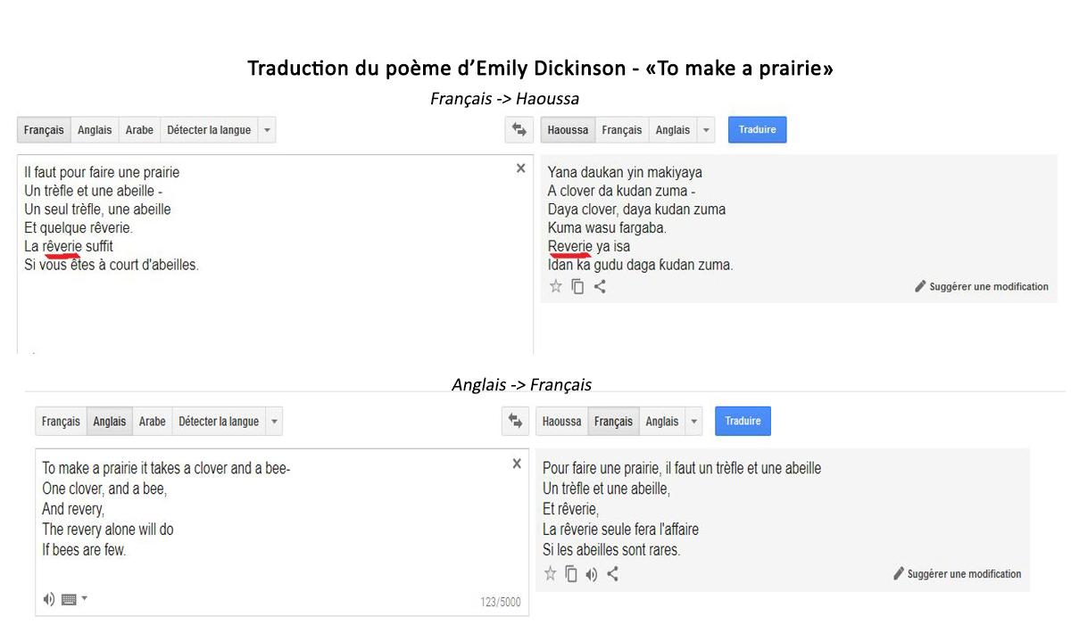 Traduction du poème d'Emily Dickinson
